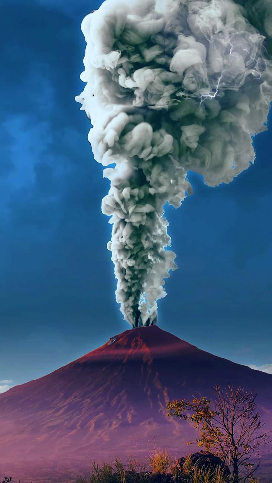 Volcanic Eruption iPhone Wallpaper