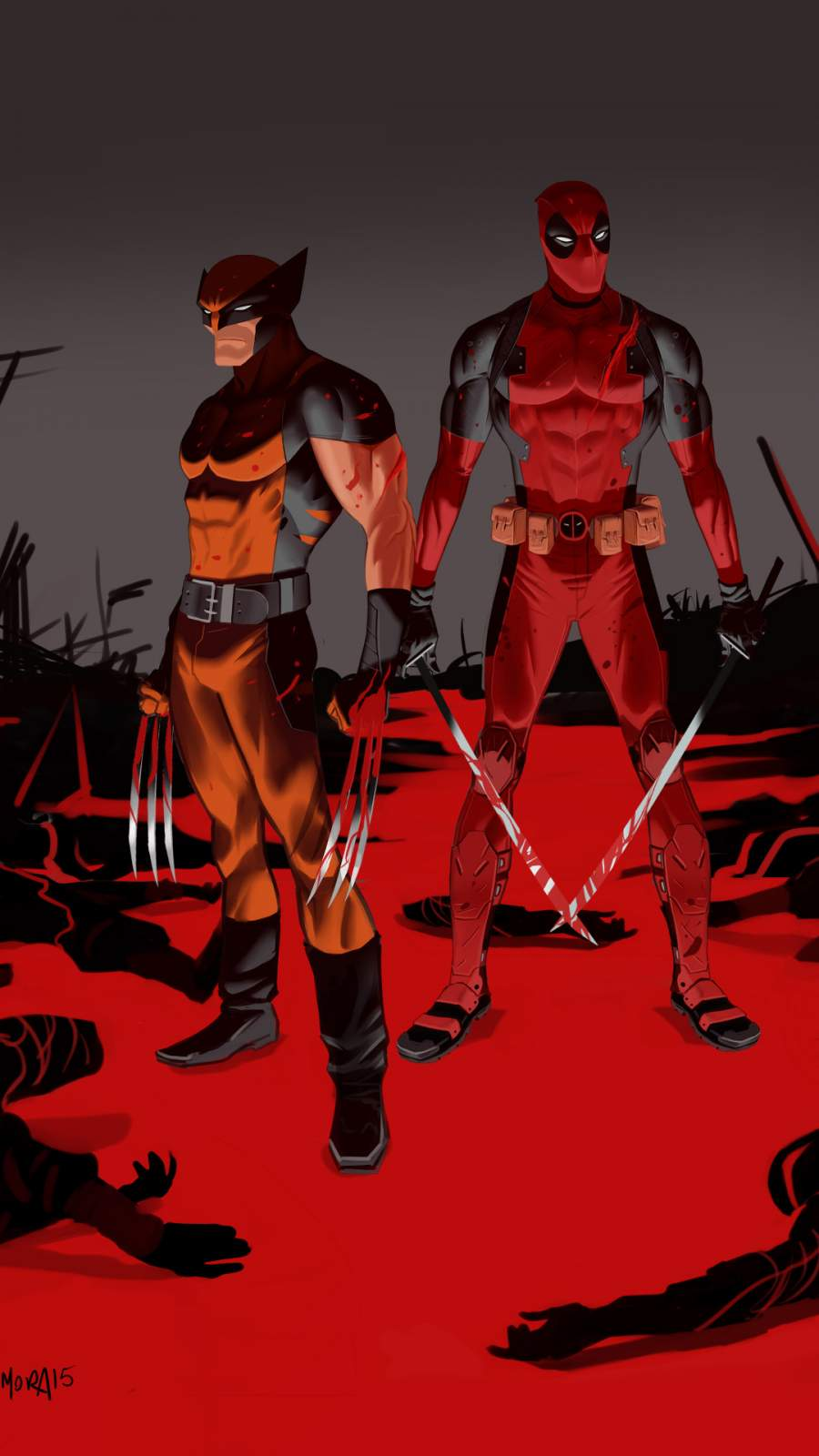 Wolverine and Deadpool iPhone Wallpaper