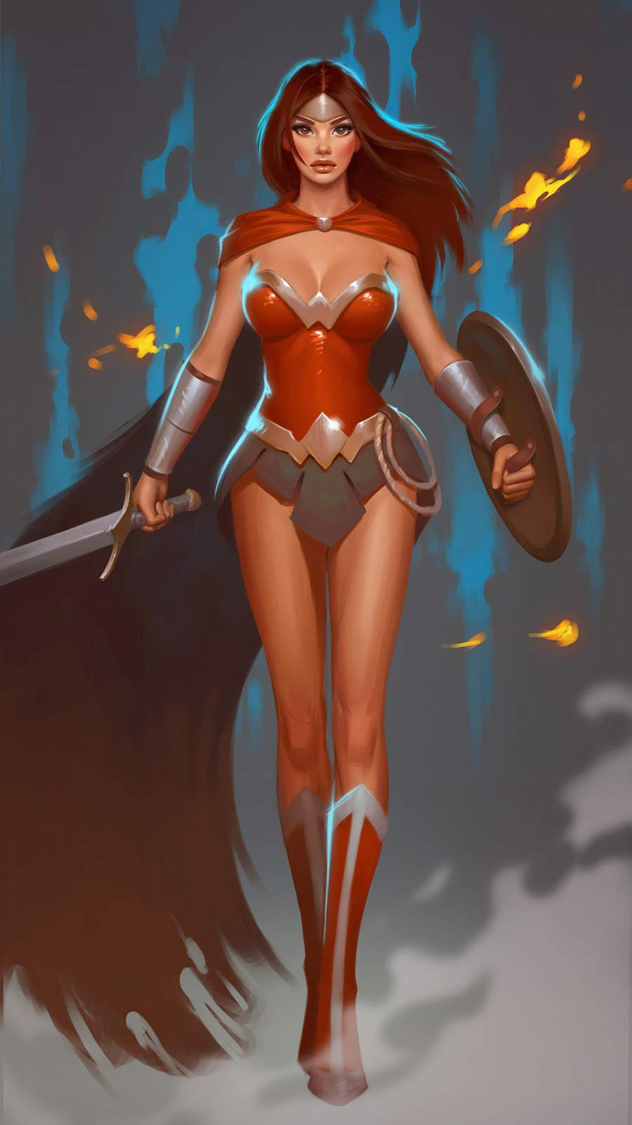 Wonder Woman Artistic iPhone Wallpaper