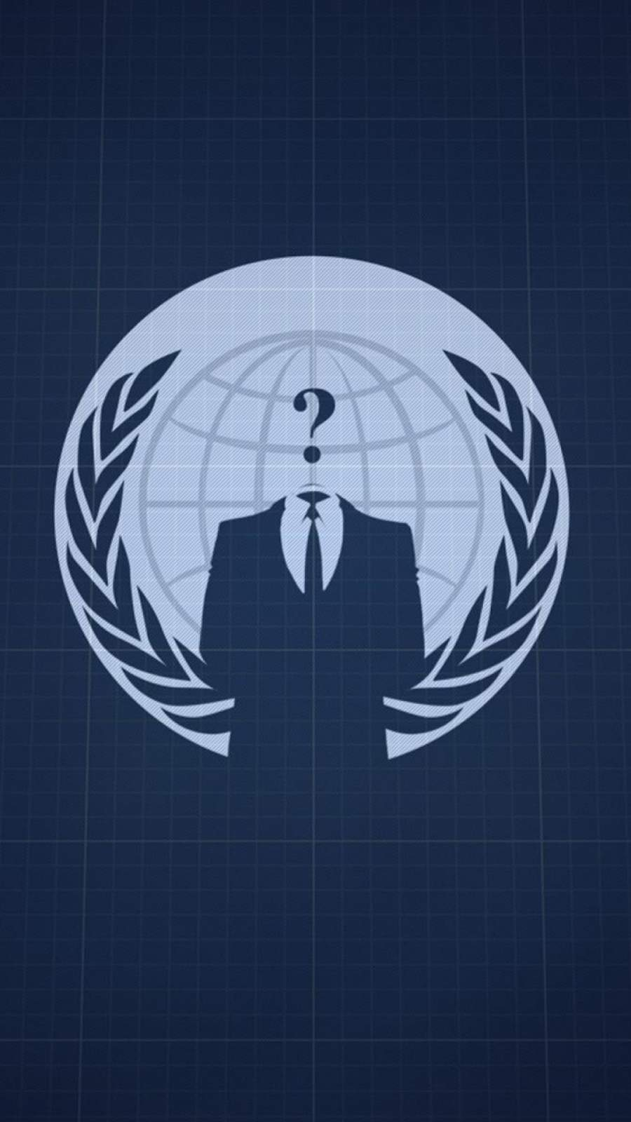 Anonymous Hacking iPhone Wallpaper