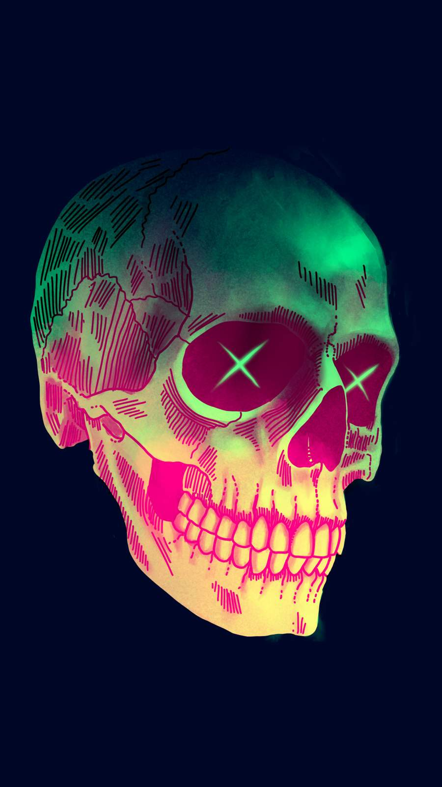 Art Skull iPhone Wallpaper