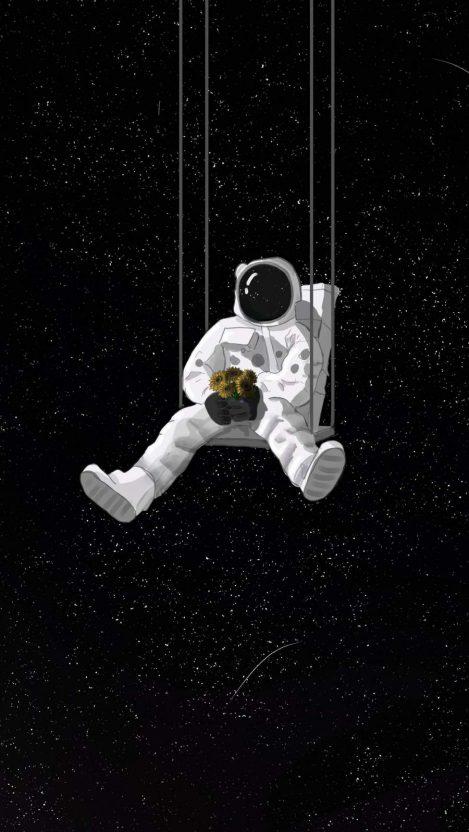Astronaut Artwork iPhone Wallpaper