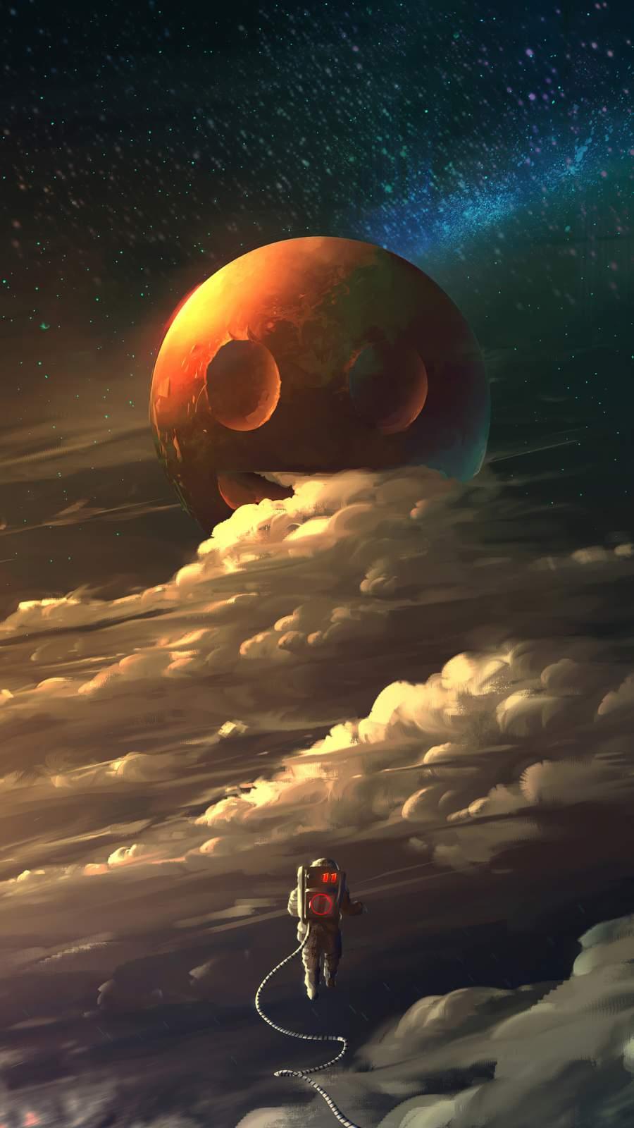 Astronaut Cosmos iPhone Wallpaper