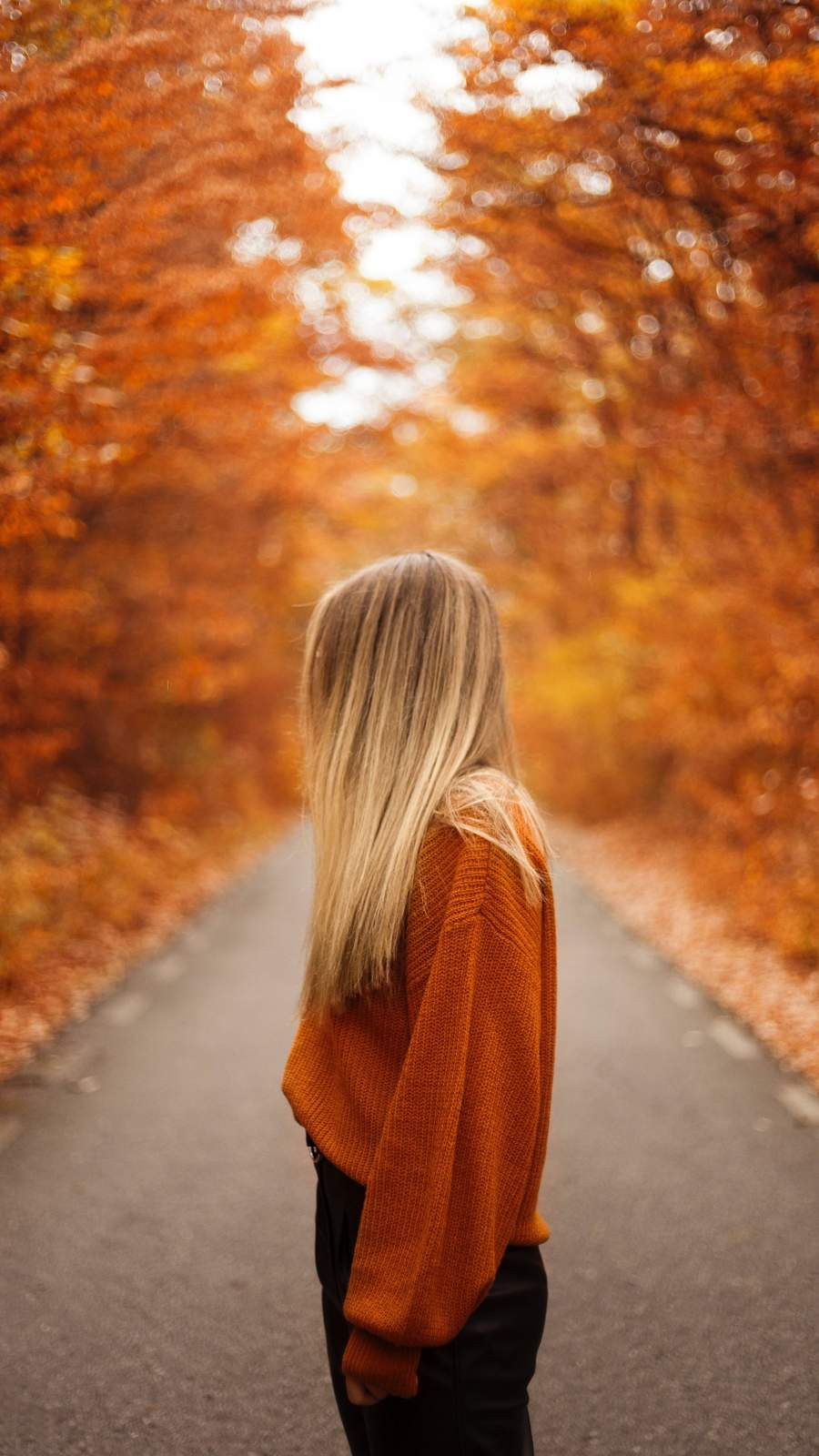 Autumn Girl iPhone Wallpaper