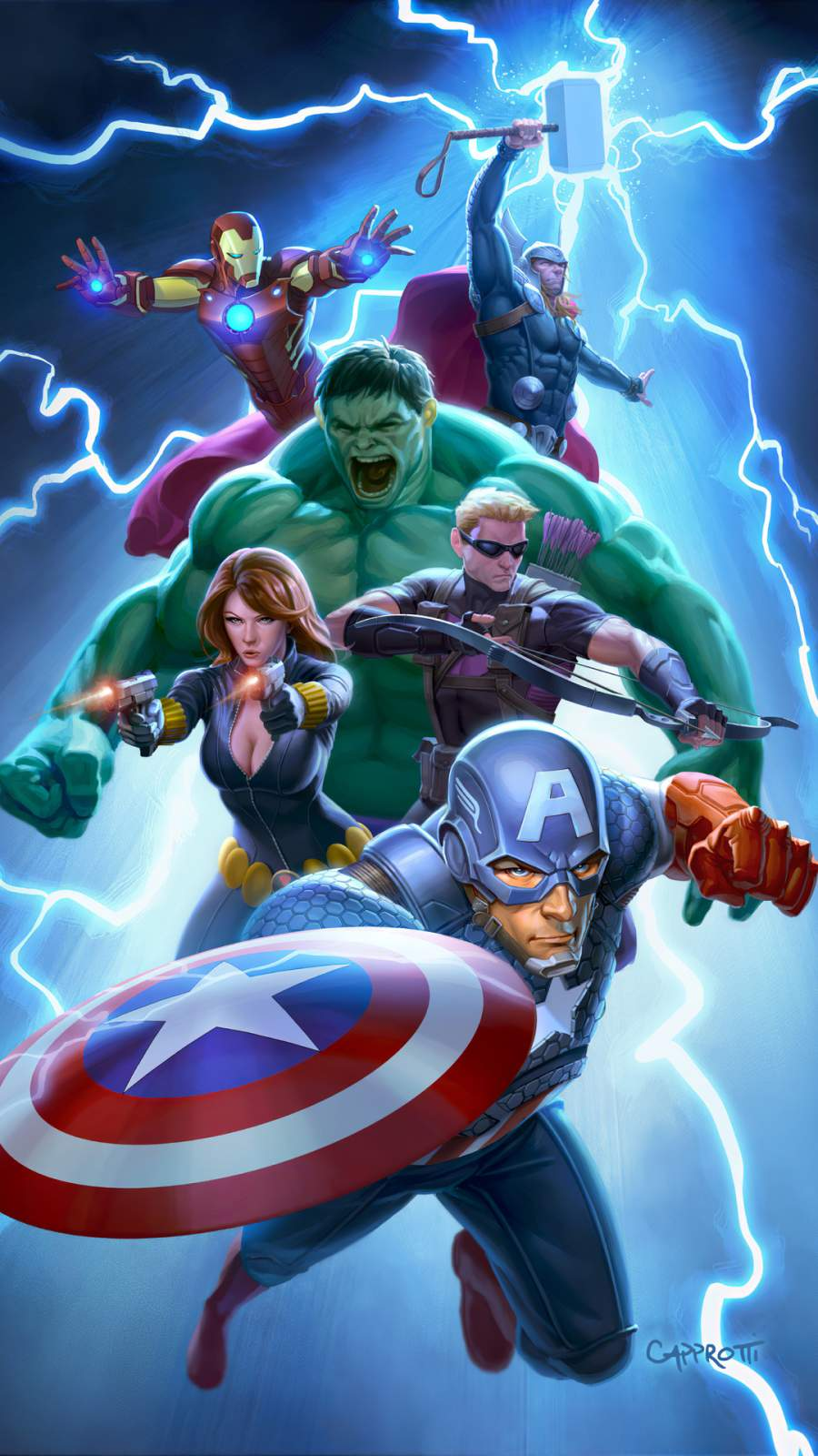 Avengers Animated Poster iPhone Wallpaper