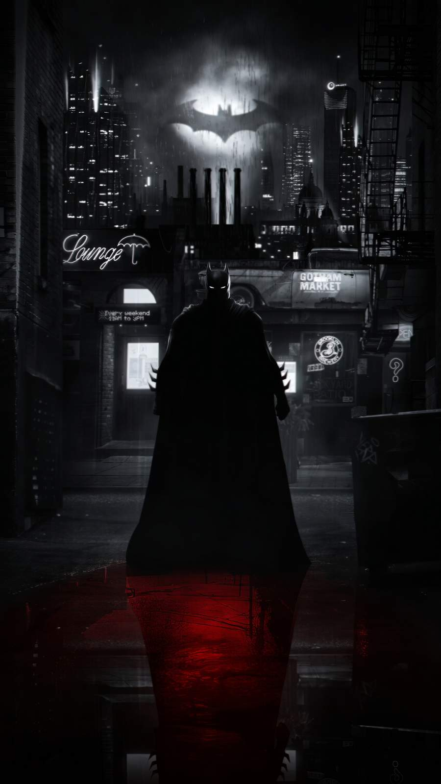 Batman Alley iPhone Wallpaper