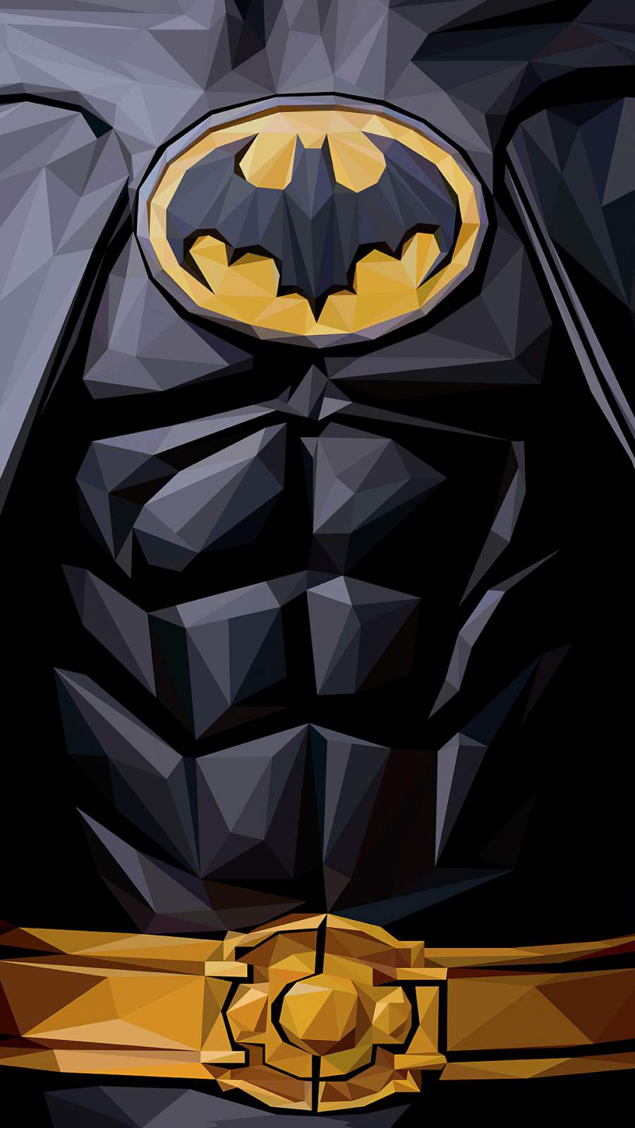 Batman Polygon 4K iPhone Wallpaper
