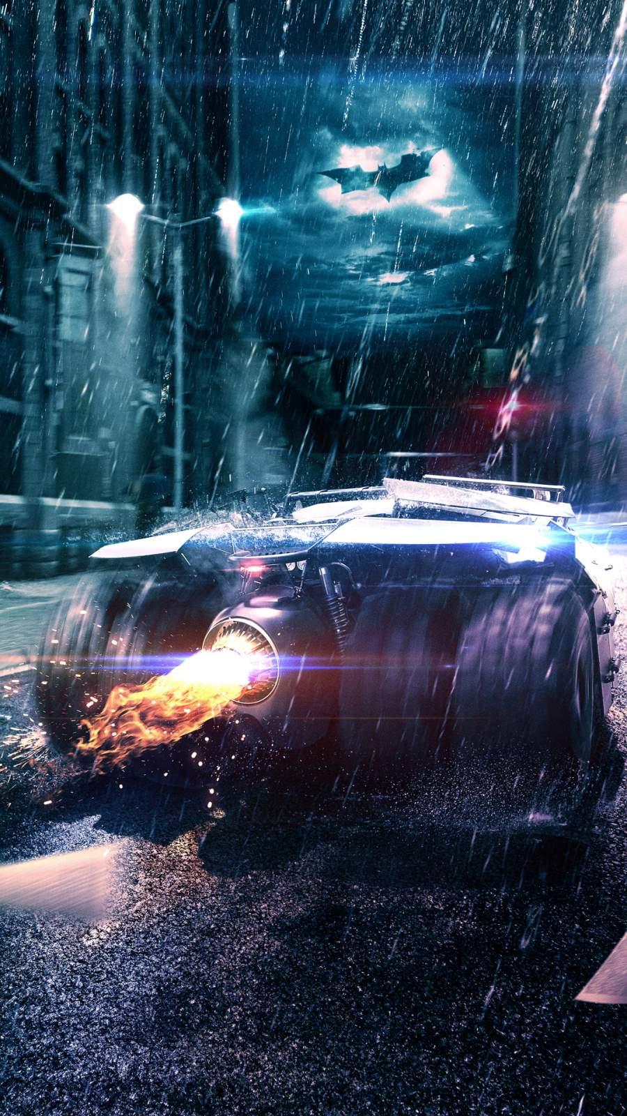 Batmobile 4K iPhone Wallpaper