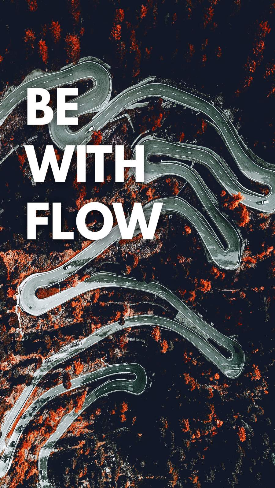 Be with Flow iPhone Wallpaper