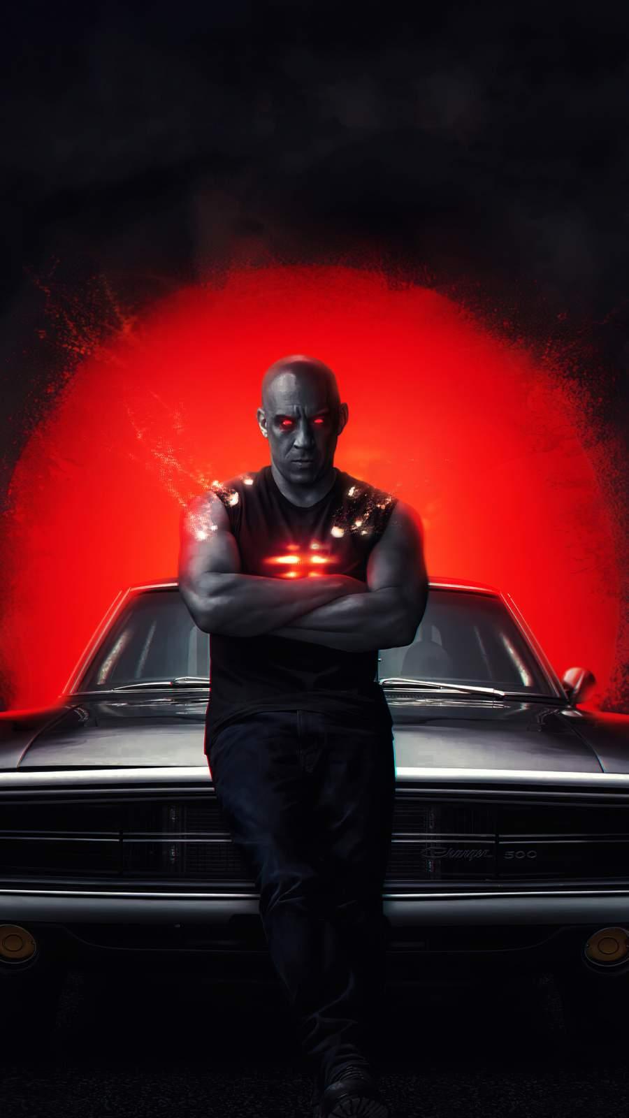 Bloodshot Vin Diesel iPhone Wallpaper