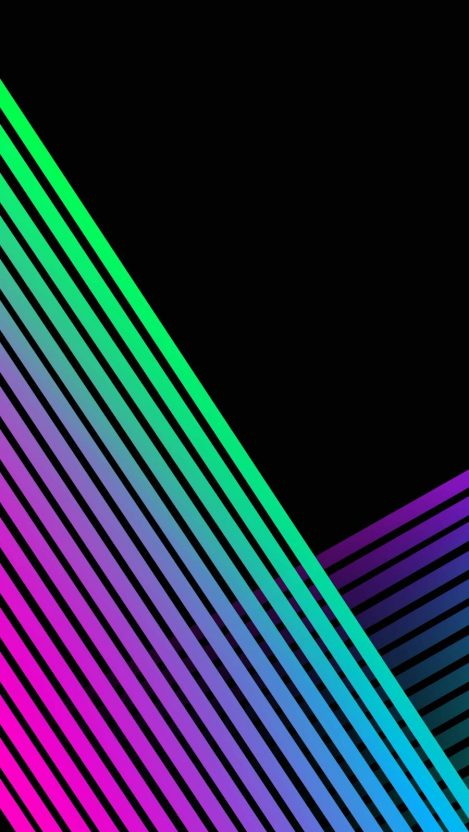 Colored Lines iPhone Wallpaper