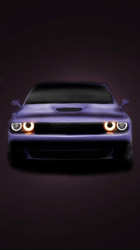Dodge Challenger Purple iPhone Wallpaper