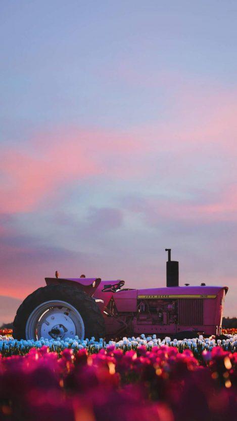 Farm Tractor iPhone Wallpaper