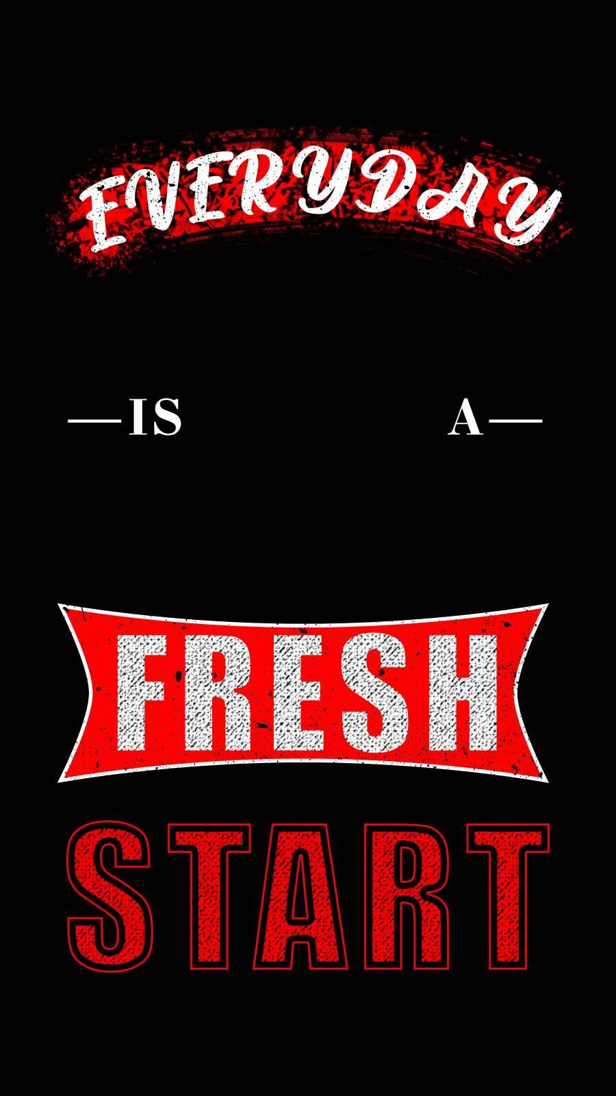 Fresh Start iPhone Wallpaper