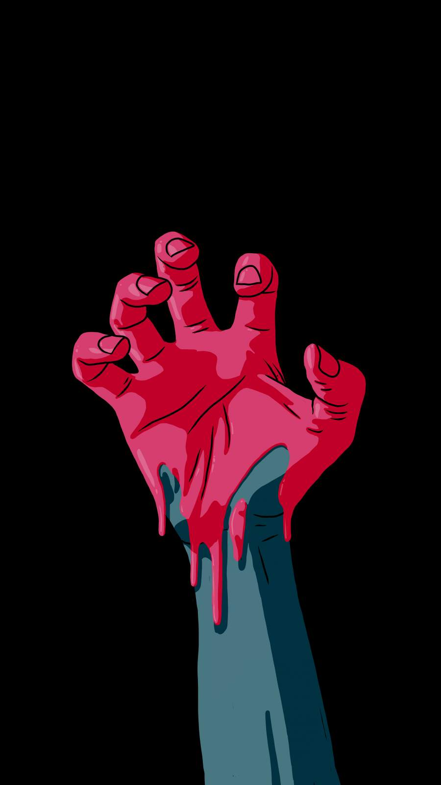 Ghost Hand iPhone Wallpaper