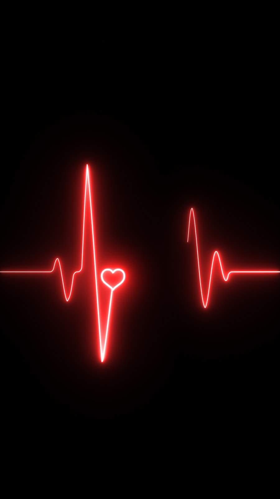 Heartbeat iPhone Wallpaper