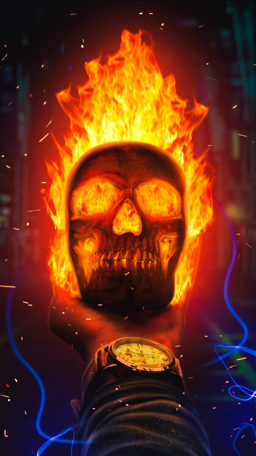 Hell Fire iPhone Wallpaper