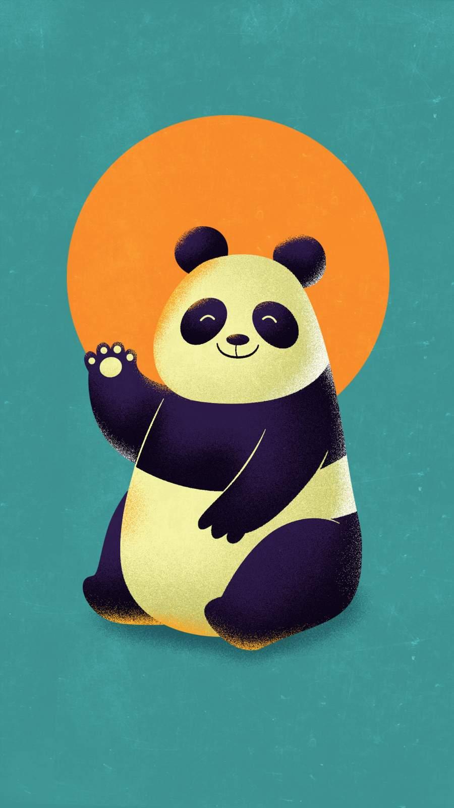 Hello Panda iPhone Wallpaper