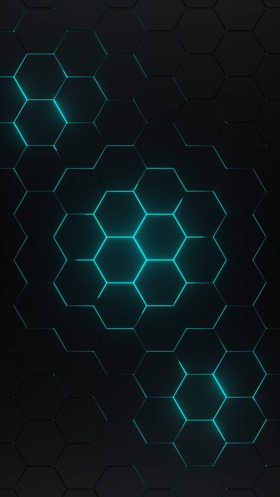 Honeycomb Pattern iPhone Wallpaper