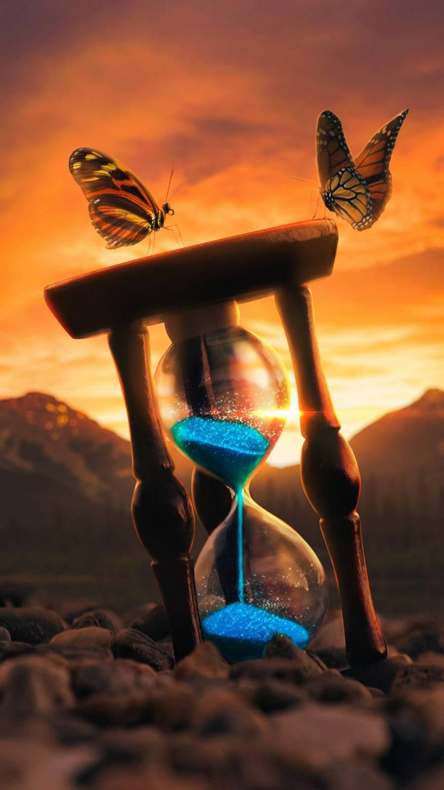Hourglass Artwork iPhone Wallpaper