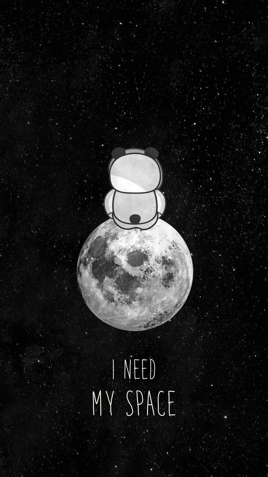 I Need My Space iPhone Wallpaper
