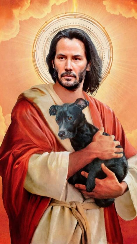 John Wick and Dog iPhone Wallpaper