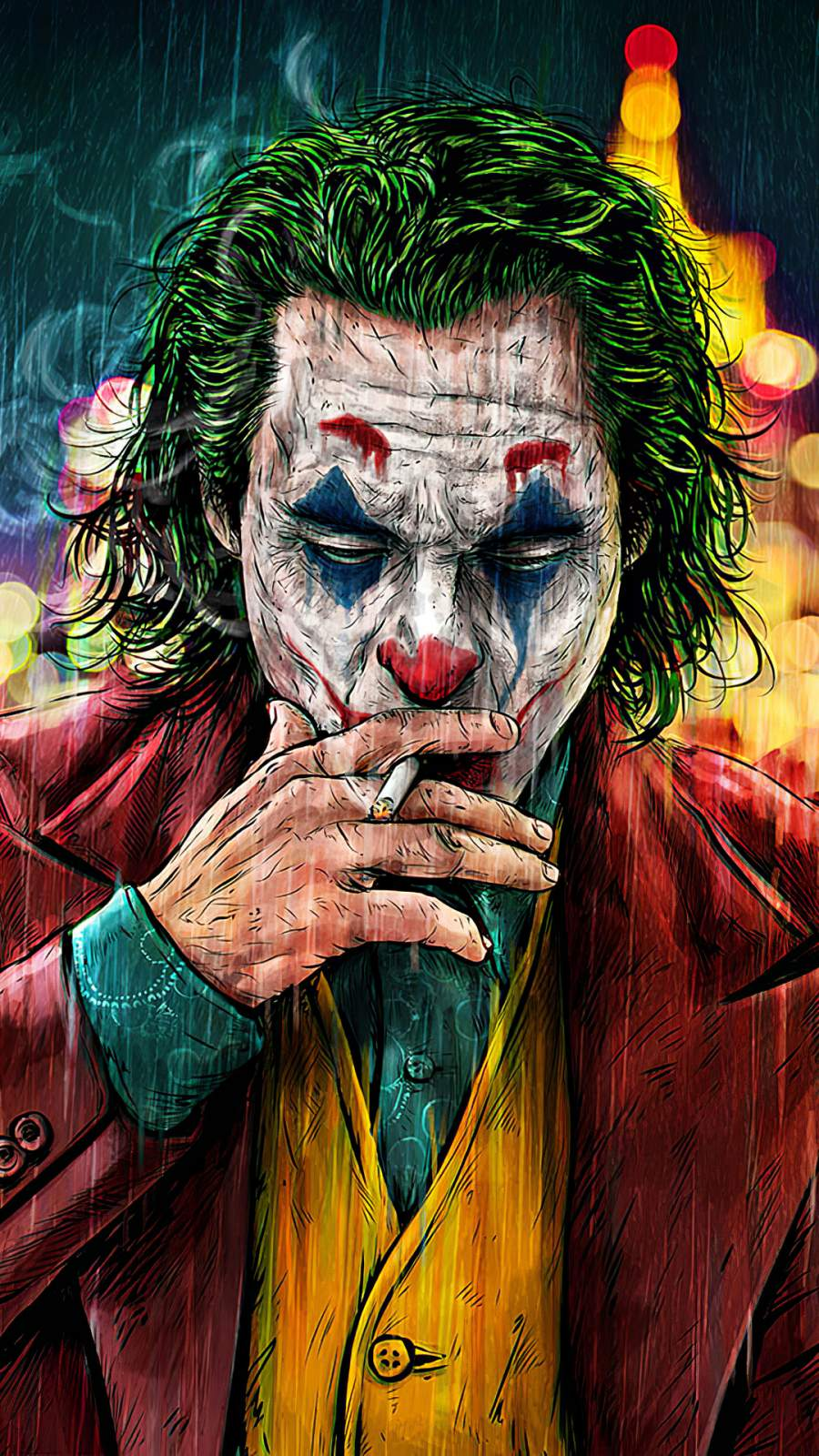 Joker Cigratte Smoking iPhone Wallpaper
