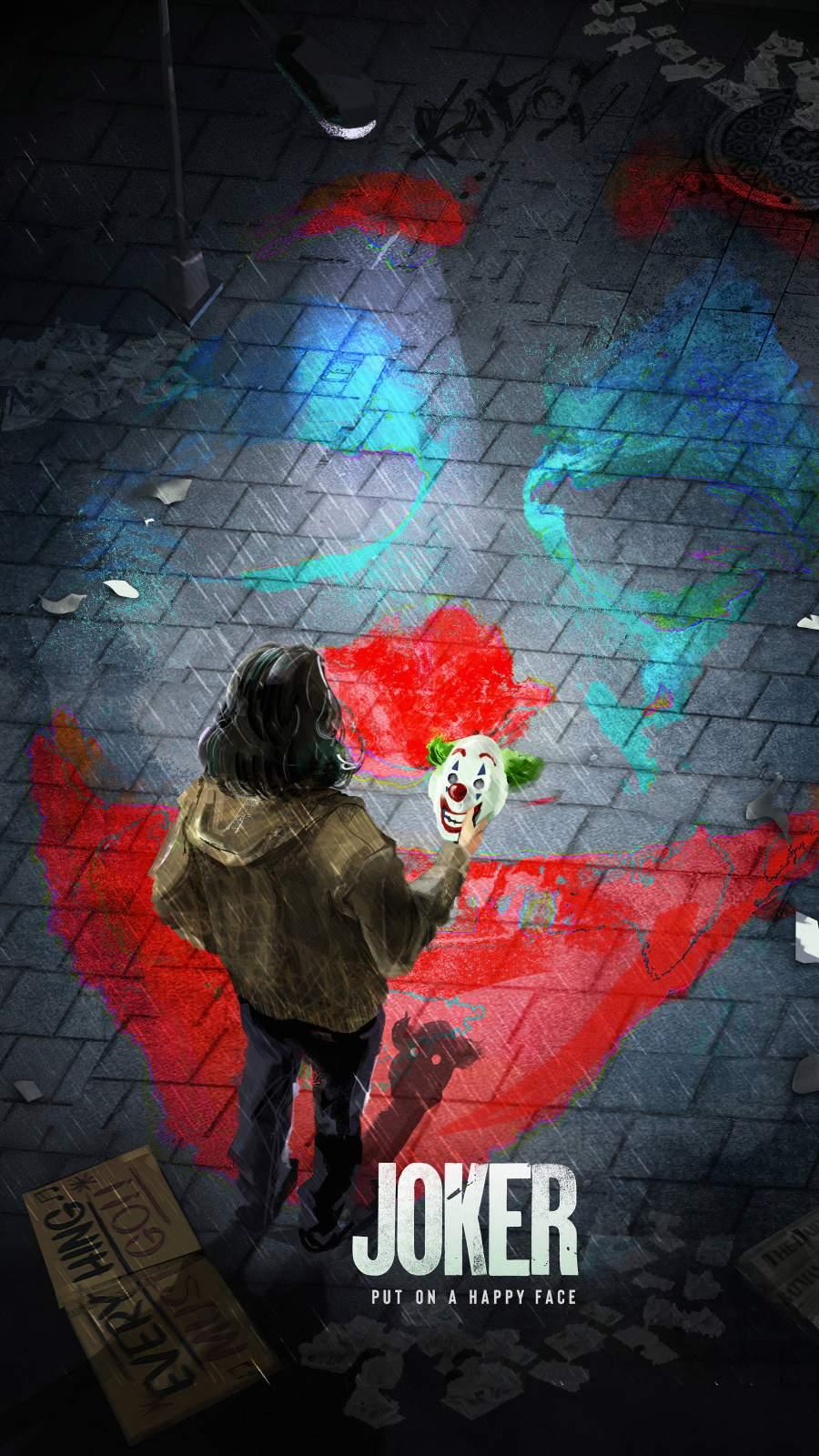 Joker Mask iPhone Wallpaper