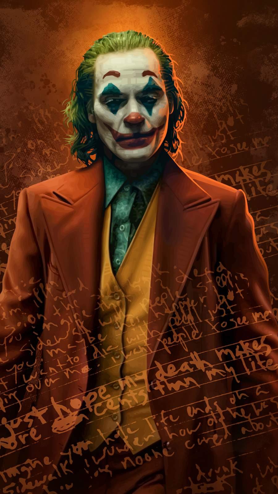 Joker Poster Art iPhone Wallpaper