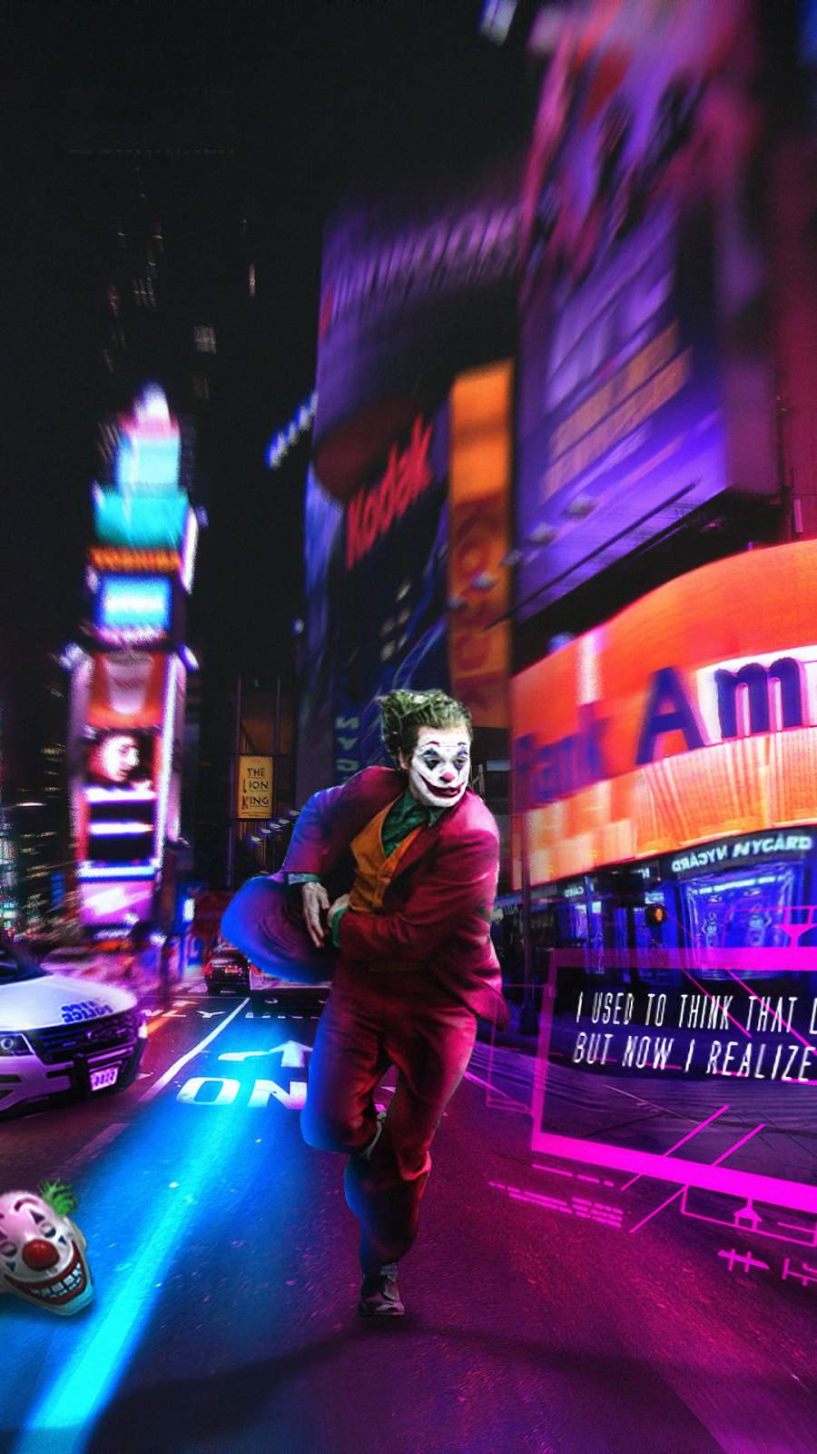 Joker Running Away iPhone Wallpaper