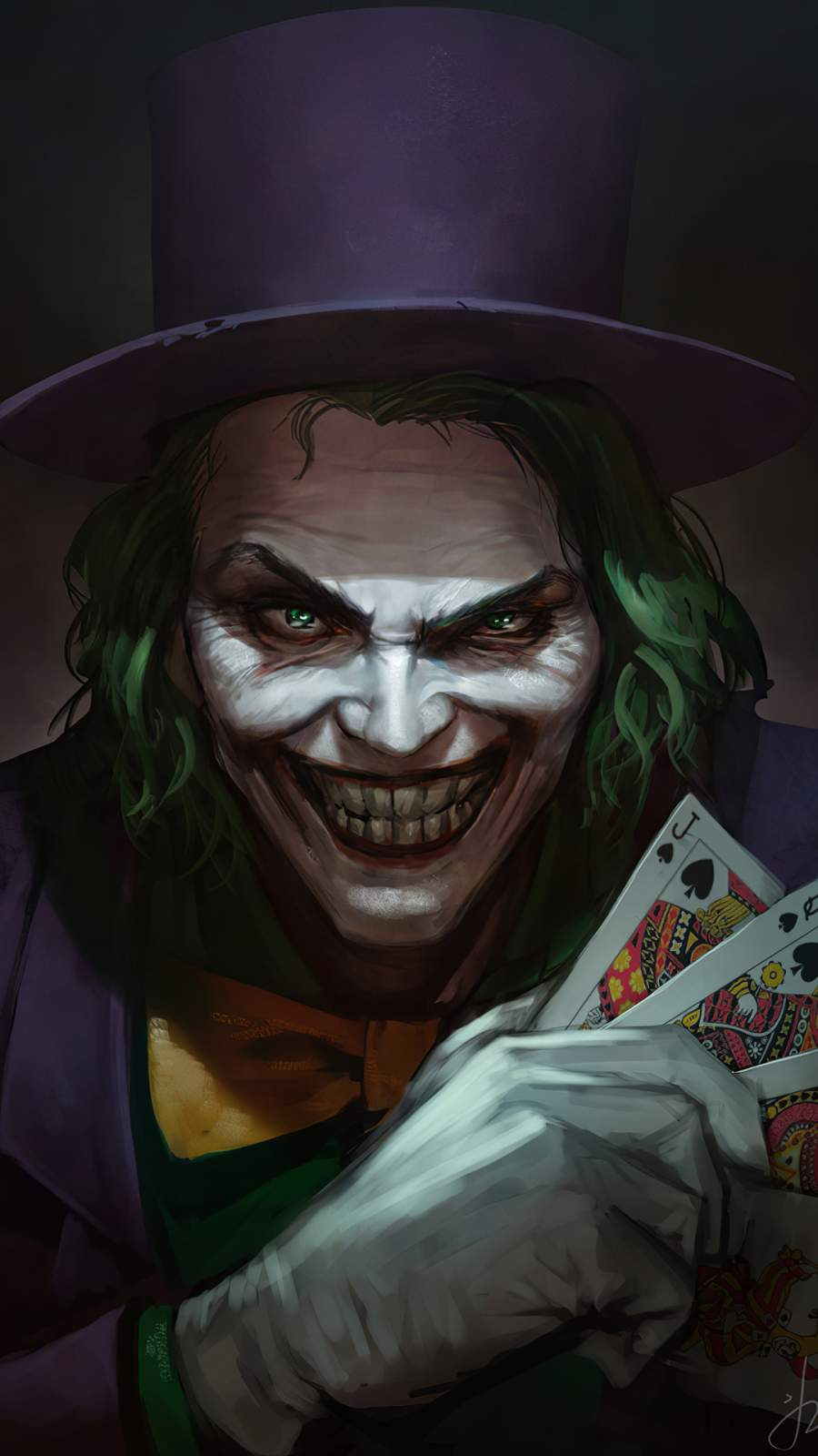 Joker with Cards iPhone Wallpaper