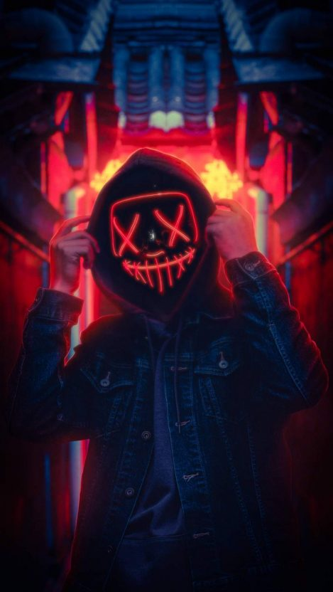 Lightup Mask iPhone Wallpaper