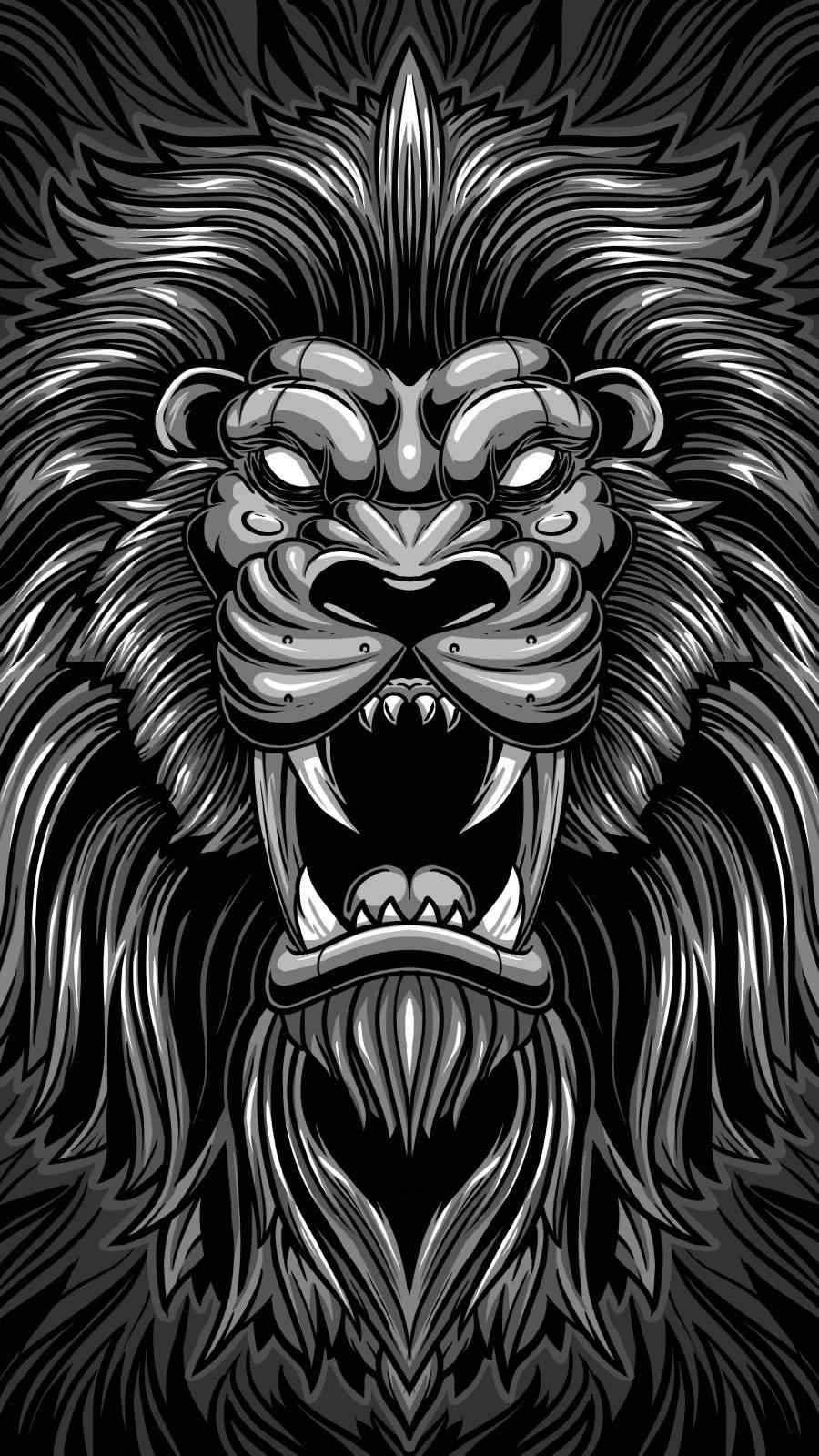 Lion King Digital Art iPhone Wallpaper