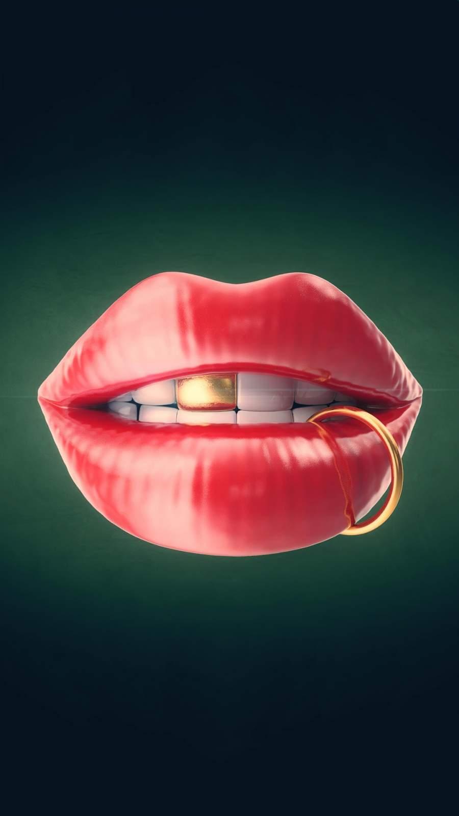 Lip Art iPhone Wallpaper