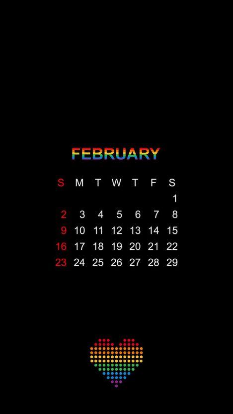 Love Calendar iPhone Wallpaper