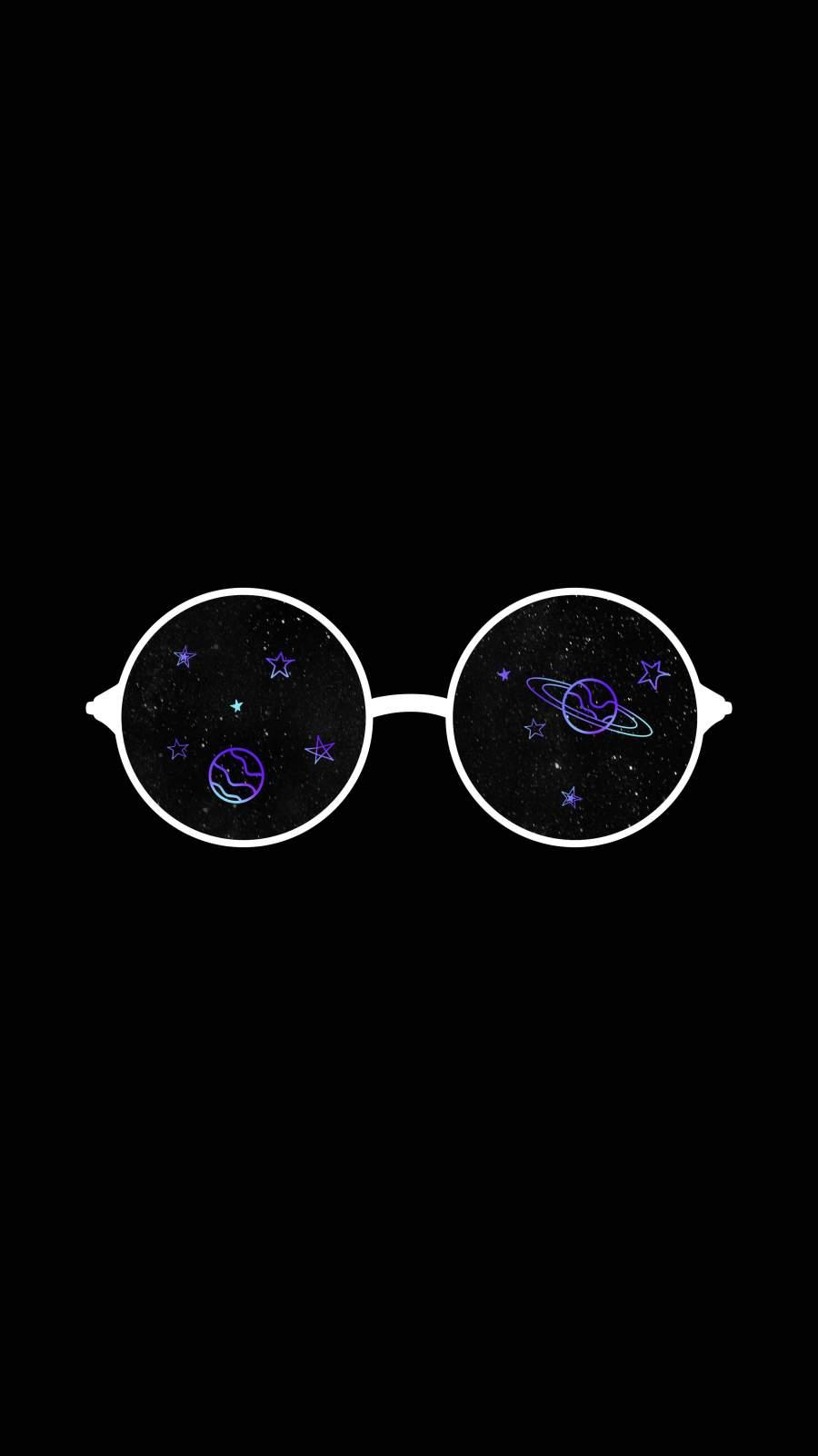 Minimal Glasses iPhone Wallpaper