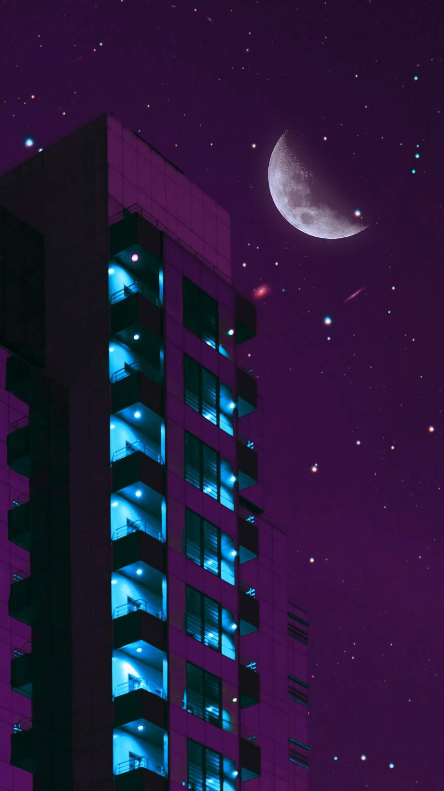 Moon Rays iPhone Wallpaper