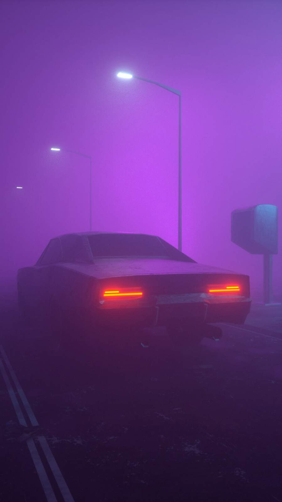 Muscle Car Mist iPhone Wallpaper