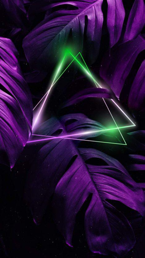 Nature Triangle Neon iPhone Wallpaper