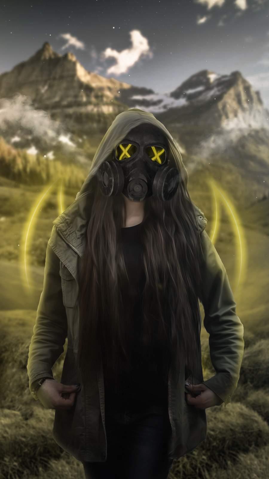 Poison Mask Girl iPhone Wallpaper