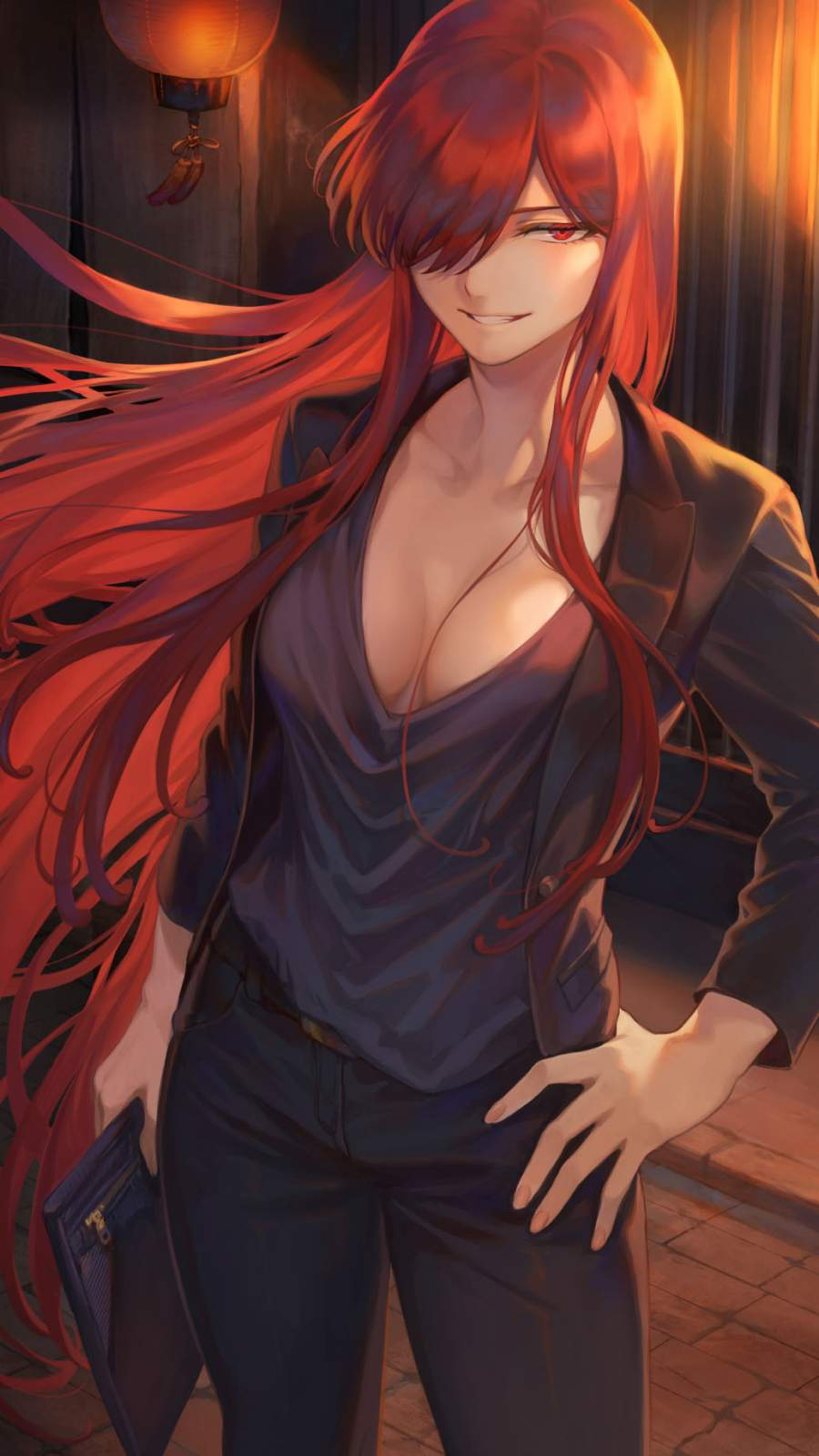 Redhead Anime iPhone Wallpaper