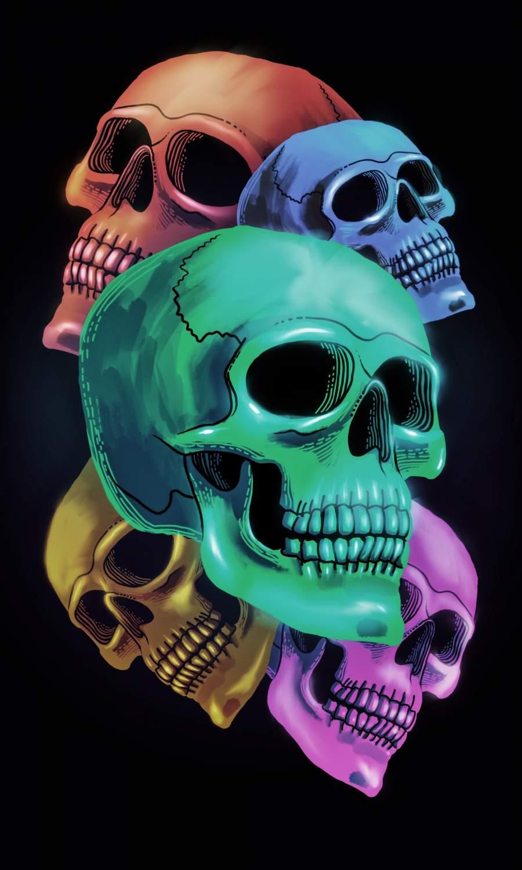 Shiny Skulls iPhone Wallpaper