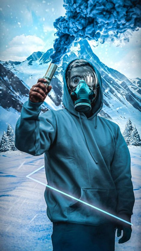 Snow Smoke iPhone Wallpaper