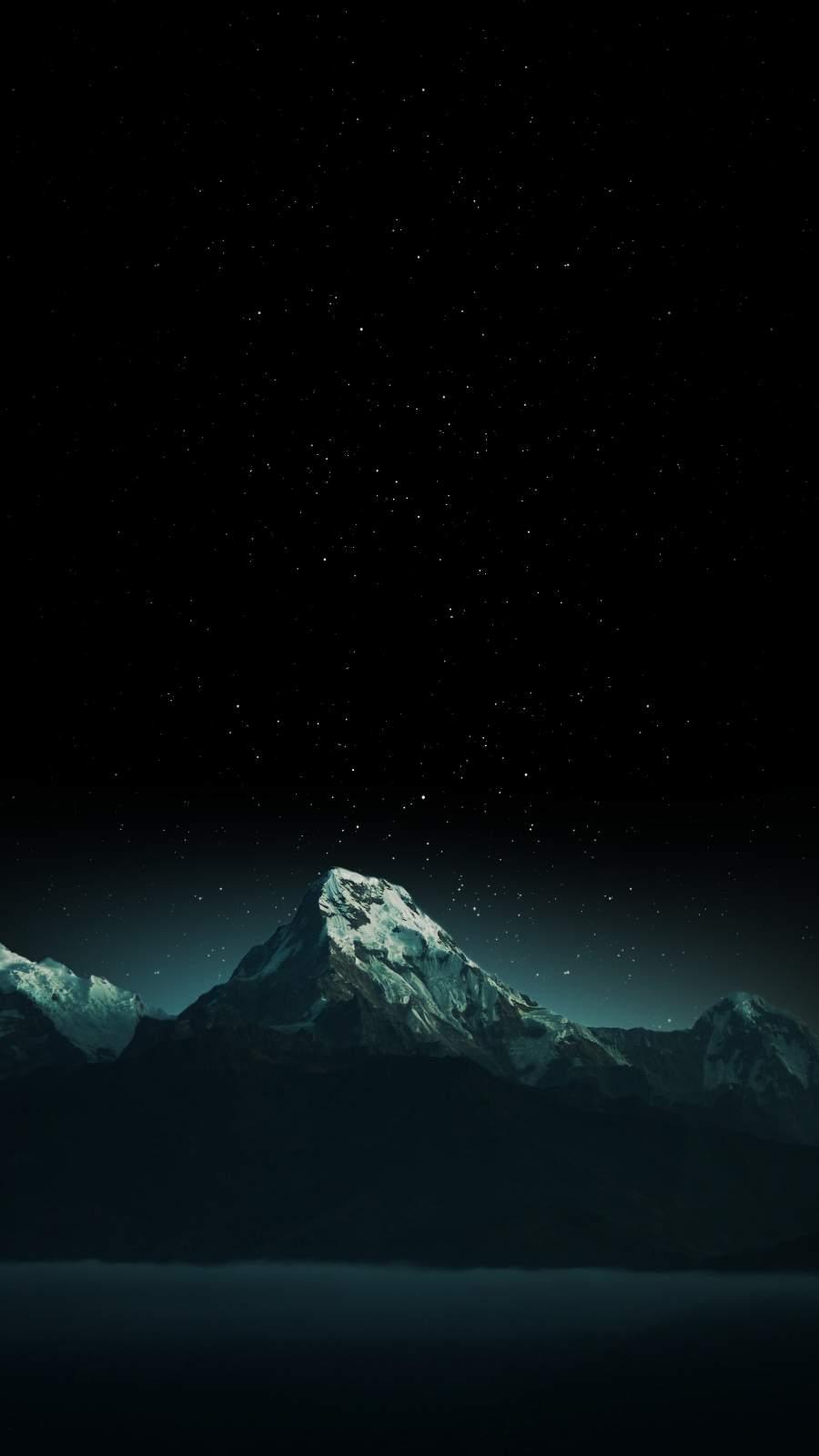 Snowvy Peak iPhone Wallpaper