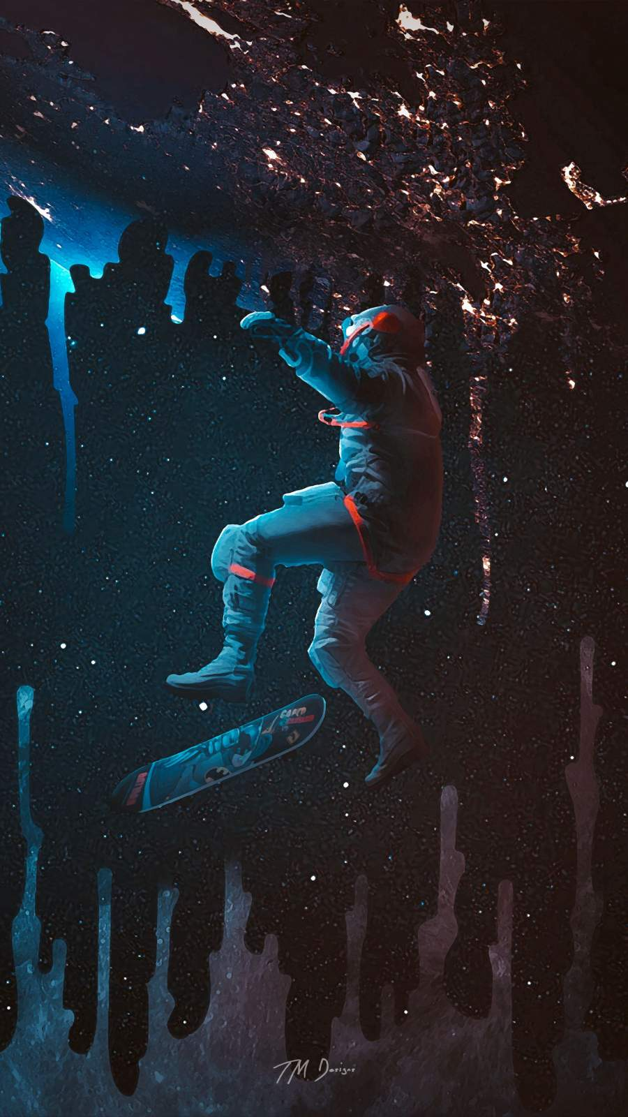 Space Skate iPhone Wallpaper