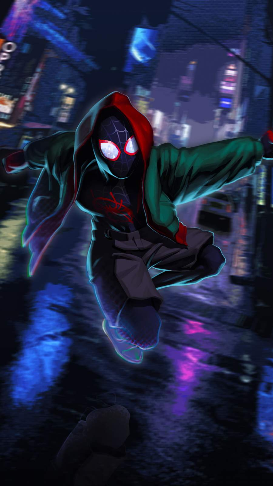 Spiderman Coming iPhone Wallpaper