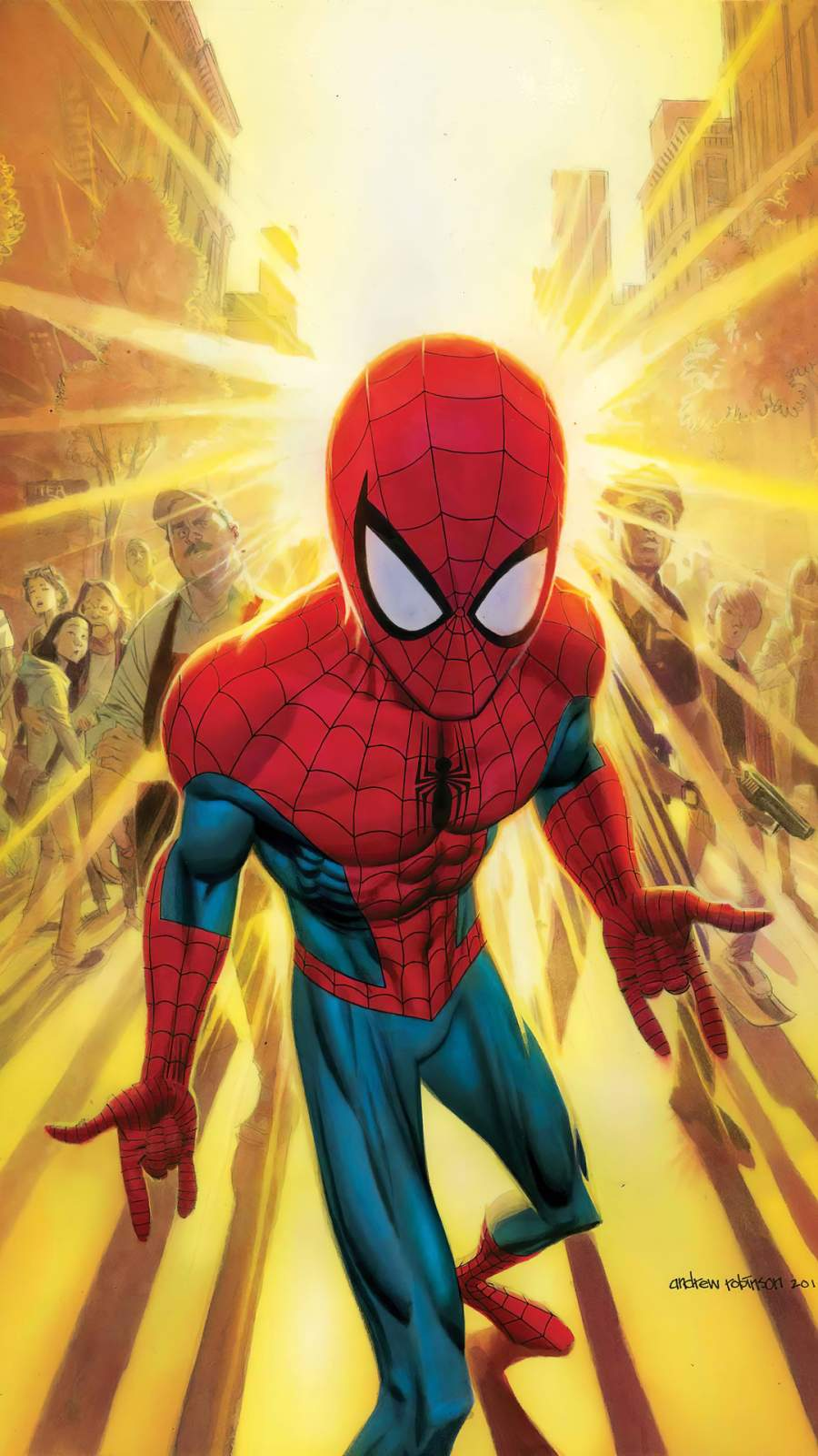 Spiderman Neighbourhood iPhone Wallpaper