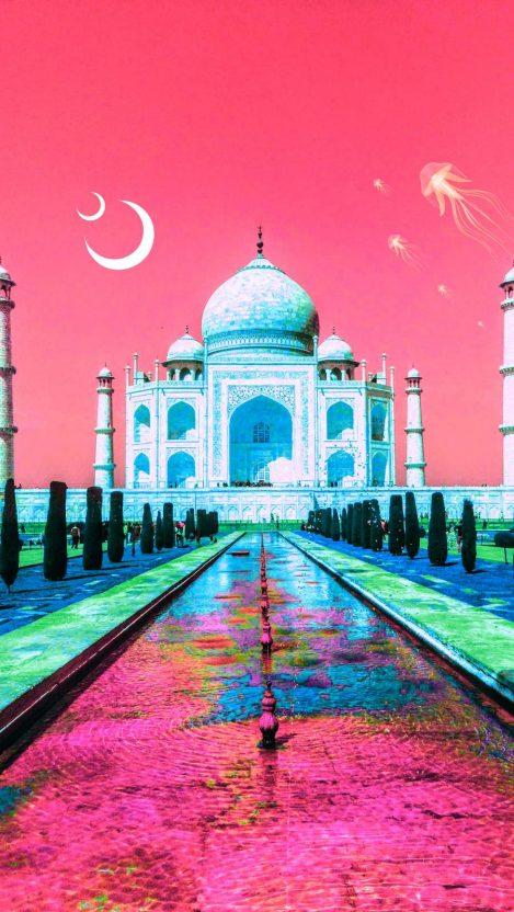 Taj Mahal Love iPhone Wallpaper