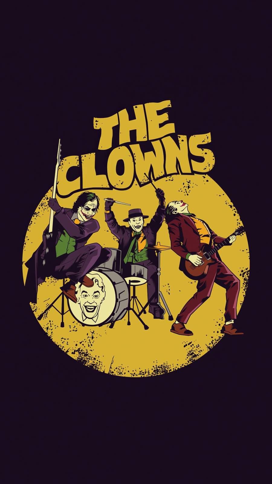 The Clowns iPhone Wallpaper