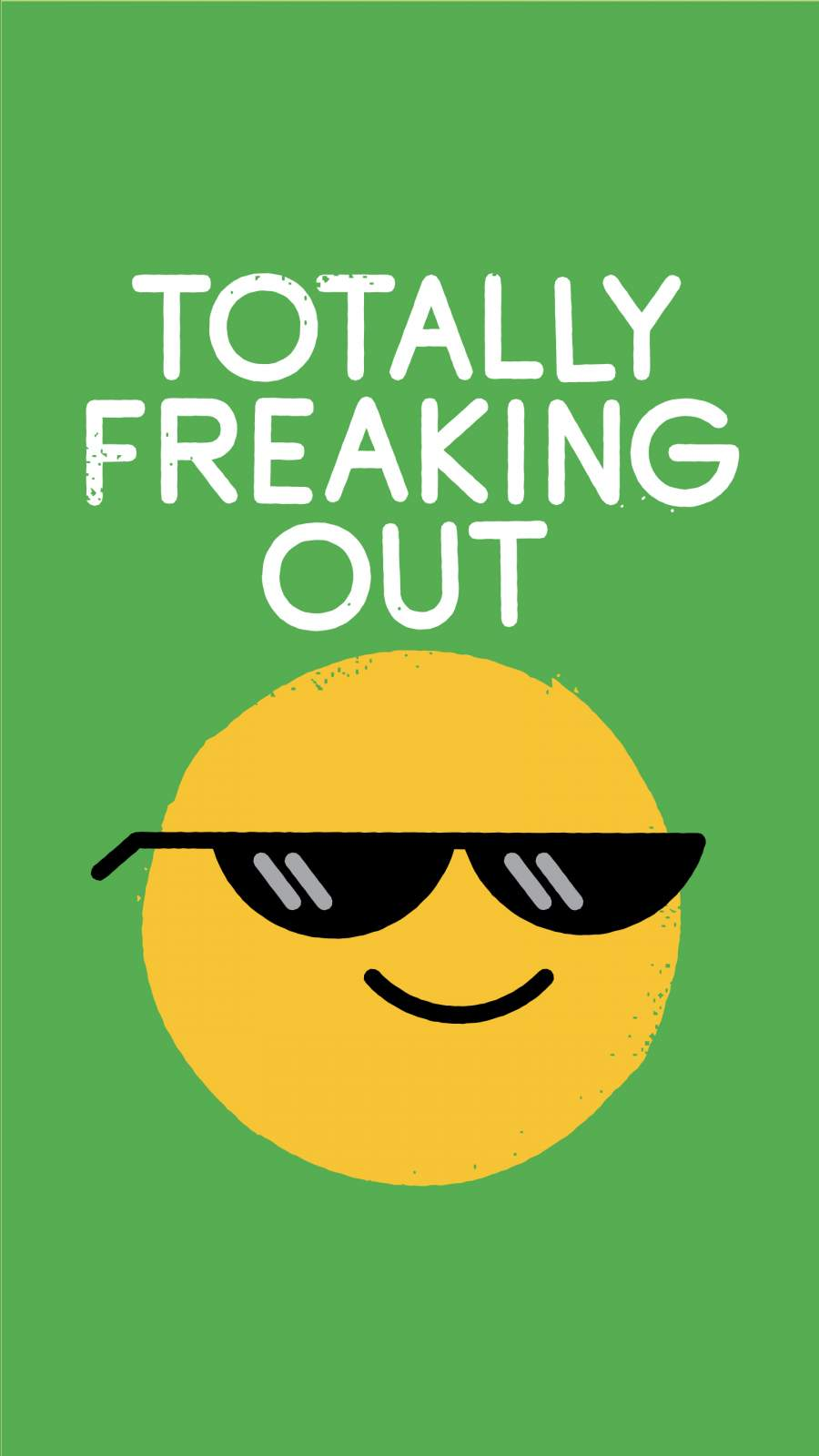 Totally Freaking Out iPhone Wallpaper